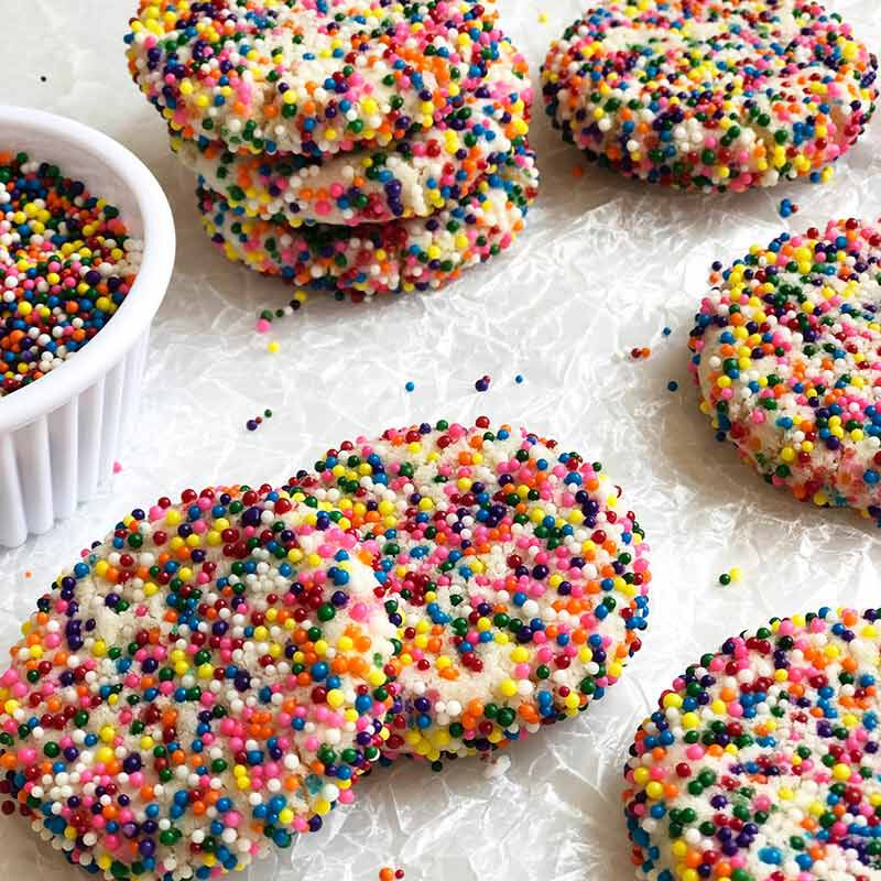 sugar cookies with nonpareils image number 2