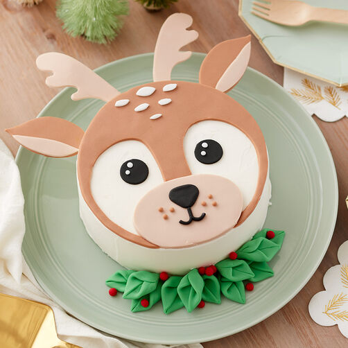 Delightful Winter Deer Cake