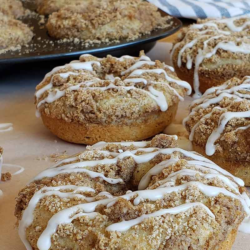 coffee cake-donuts with glaze image number 1