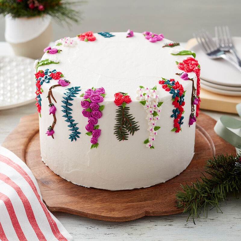 Floral Christmas Cake image number 0
