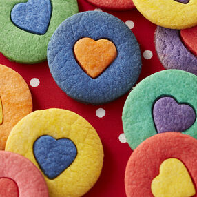 Cookies Filled with Love- Heart Inlay Cookies
