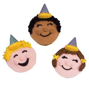Party Faces Cupcakes
