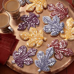 Quilled Leaf Fall Roll Out Cookies