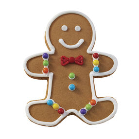Holiday Dressed Up Gingerbread Boy with Bowtie