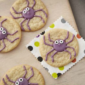 Halloween Spider Cookies - Halloween Sugar Cookies