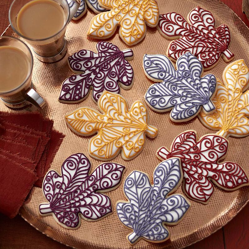 Quilled Leaf Fall Roll Out Cookies image number 0