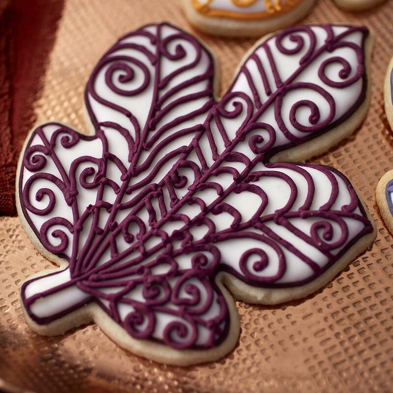 Quilled Leaf Fall Roll Out Cookies image number 1