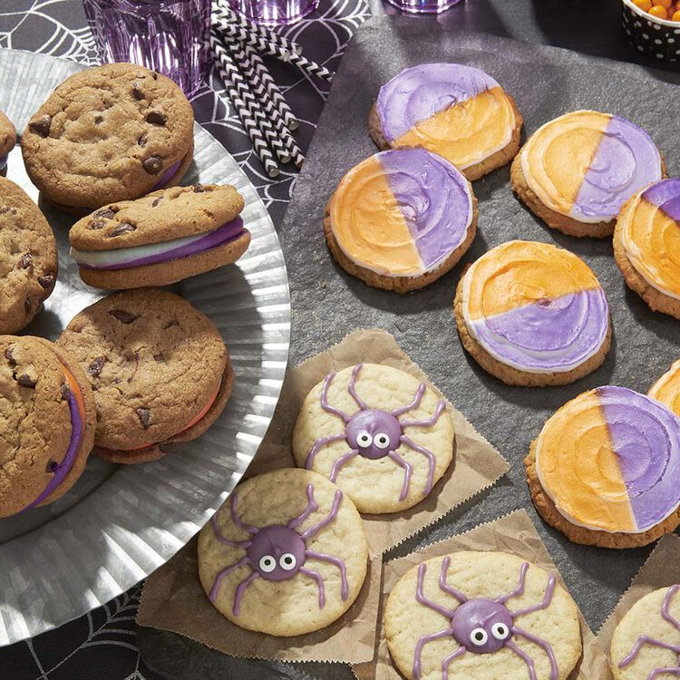 Halloween Spider Sugar Cookies