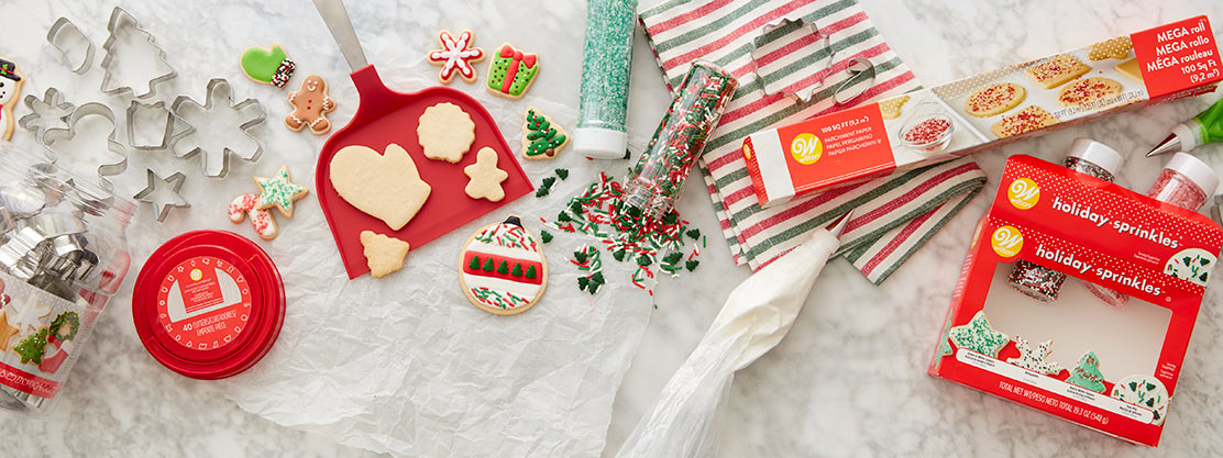 Christmas cookie products.
