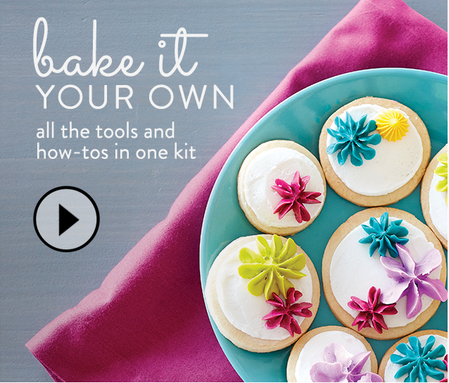 Bake it Your Own. All the tools and how-tos in one kit
