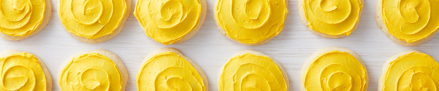 yellow frosted cookies
