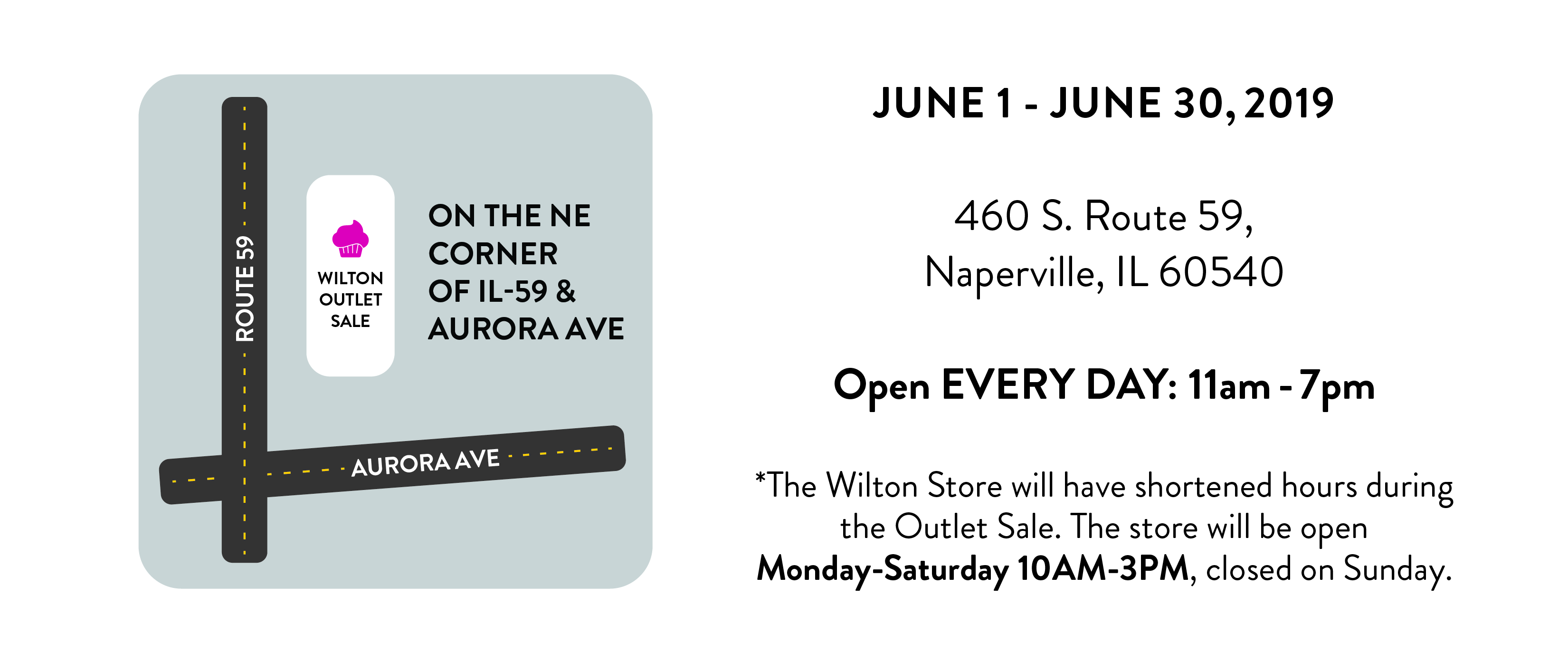 Wilton Outlet Sale Location and Hours