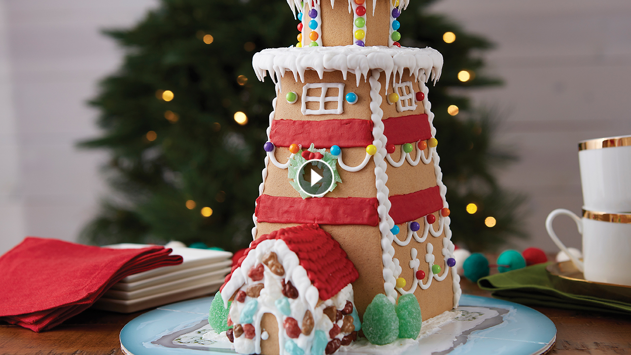 How to Make a Lighthouse Gingerbread
