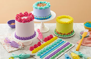 How to pipe cake borders