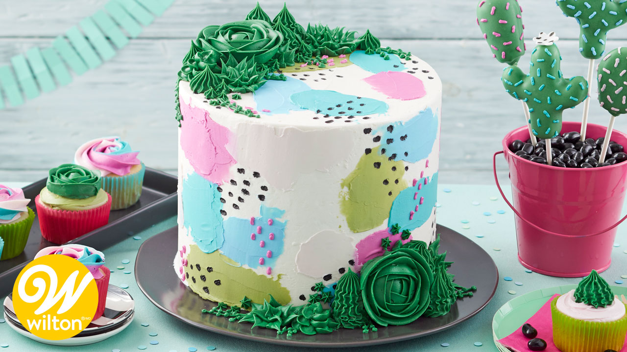Prettiest Pastels and Succulents Cake