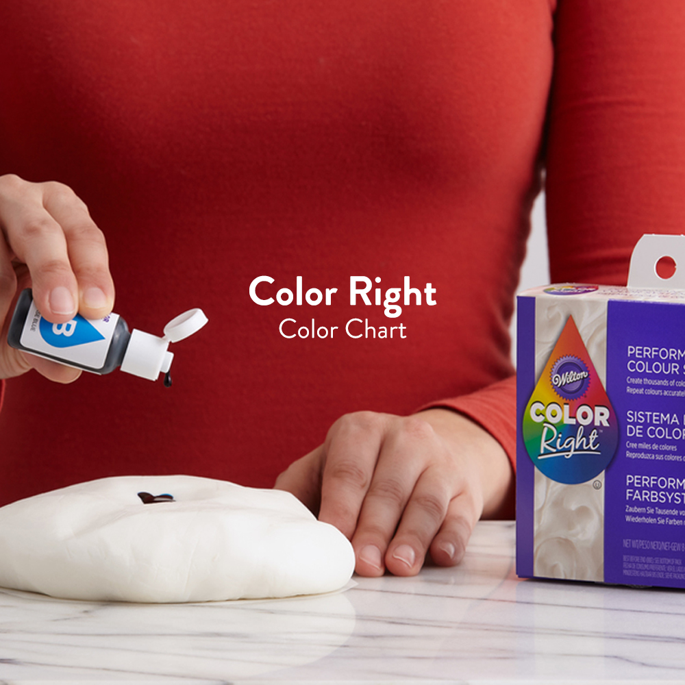 Color Right Food Coloring Chart