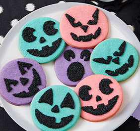 Spooky Face Cookies