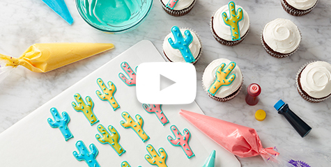 how to make Royal Icing cactus