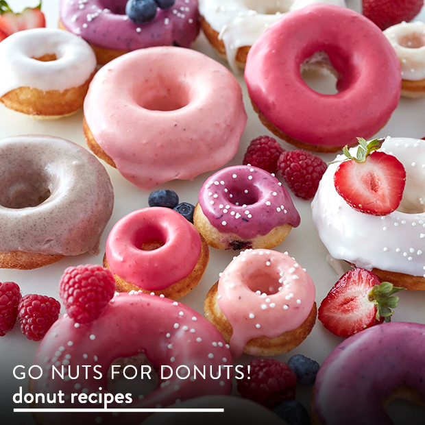 Go nuts for donuts! Find Donut Recipes.