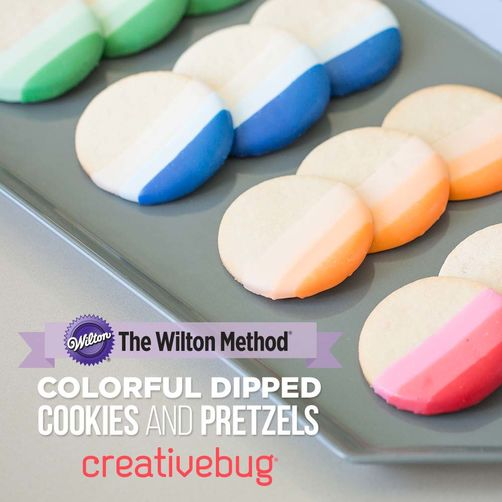 CreativeBug Colorful Dipped Cookies and Pretzels Online Class