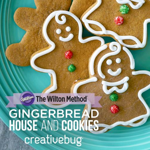 CreativeBug Gingerbread House and Cookies Online Class
