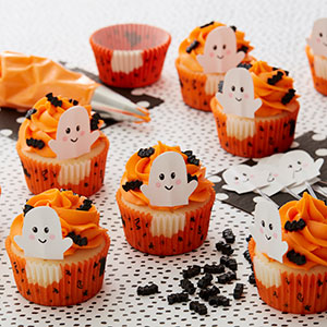 Halloween Ghost cupcake liners and toppers